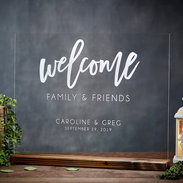 Personalized Acrylic Wedding Welcome Sign - Rich Design Co
