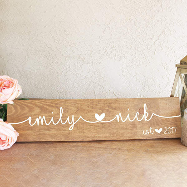 Personalized Anniversary or Wedding Date Wood Sign - Rich Design Co