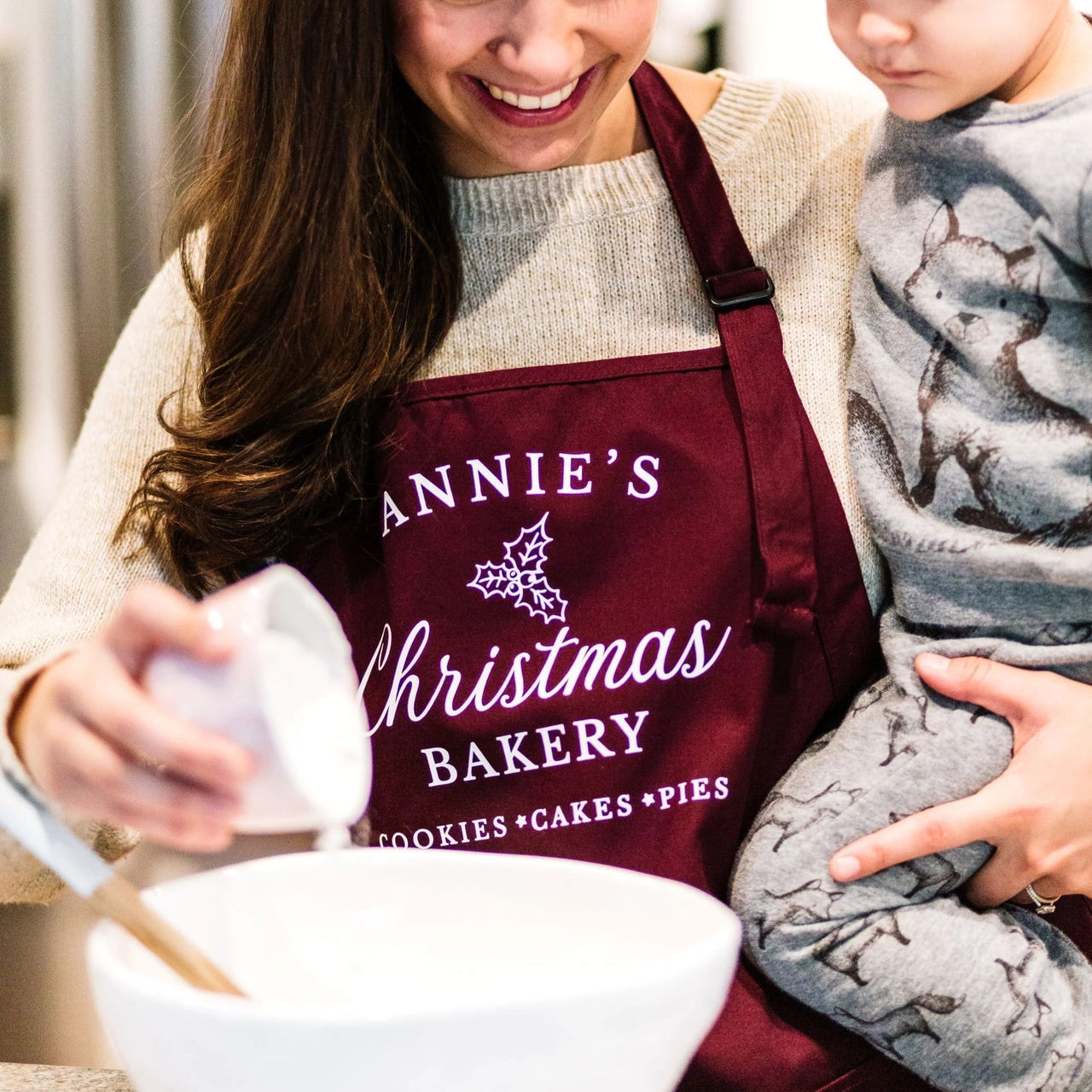 Personalized Christmas Baking Apron for Women - Rich Design Co