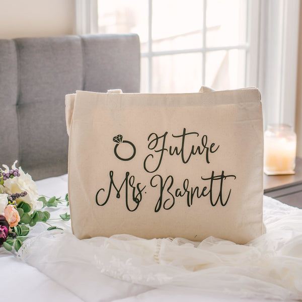 Personalized Future Mrs Canvas Tote Bag - Rich Design Co