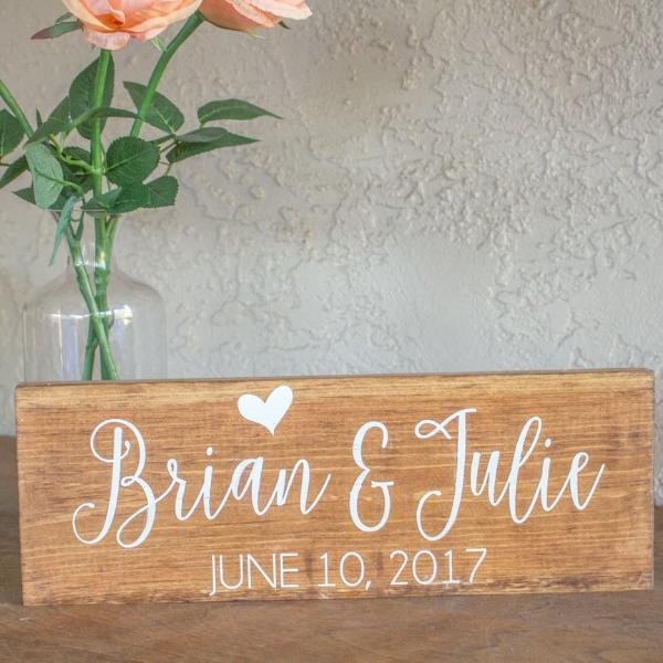 Personalized Names and Wedding Date Sign - Rich Design Co
