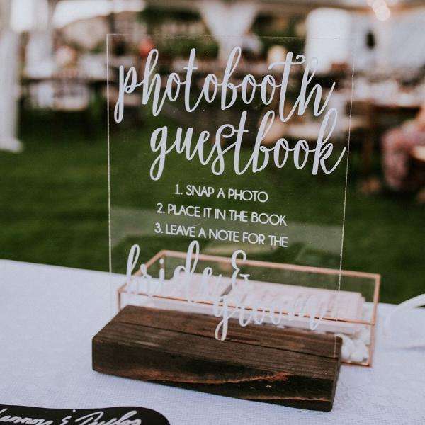 Photo Booth Guestbook Wedding Sign - Rich Design Co