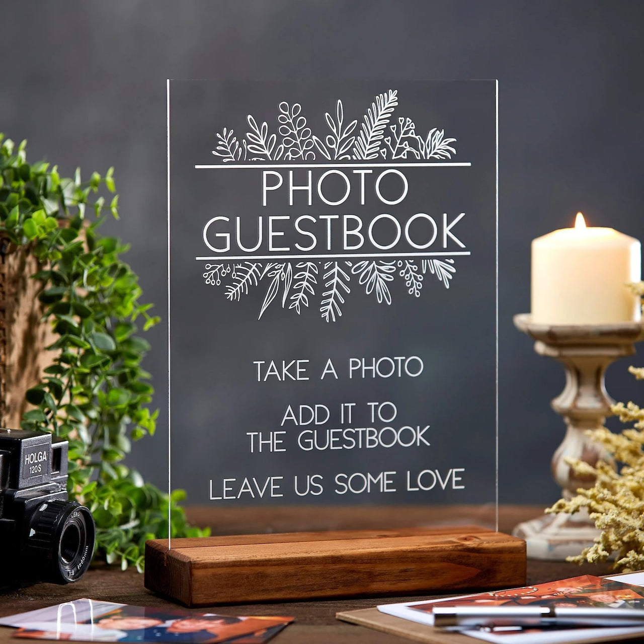 Photo Guestbook Acrylic Sign - Rich Design Co
