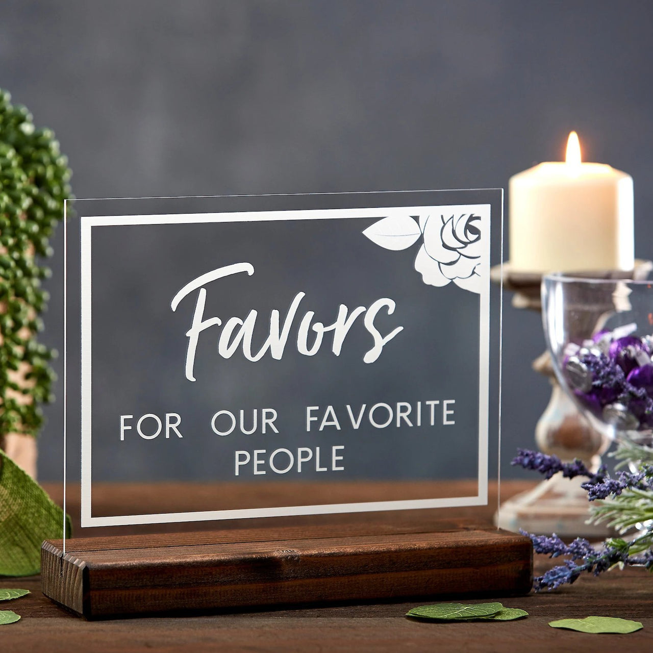 Please Sign Our Guestbook Floral Acrylic Sign - Rich Design Co