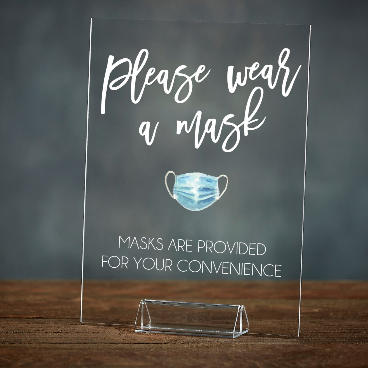 Please Wear A Mask | Acrylic Event Sign - Rich Design Co