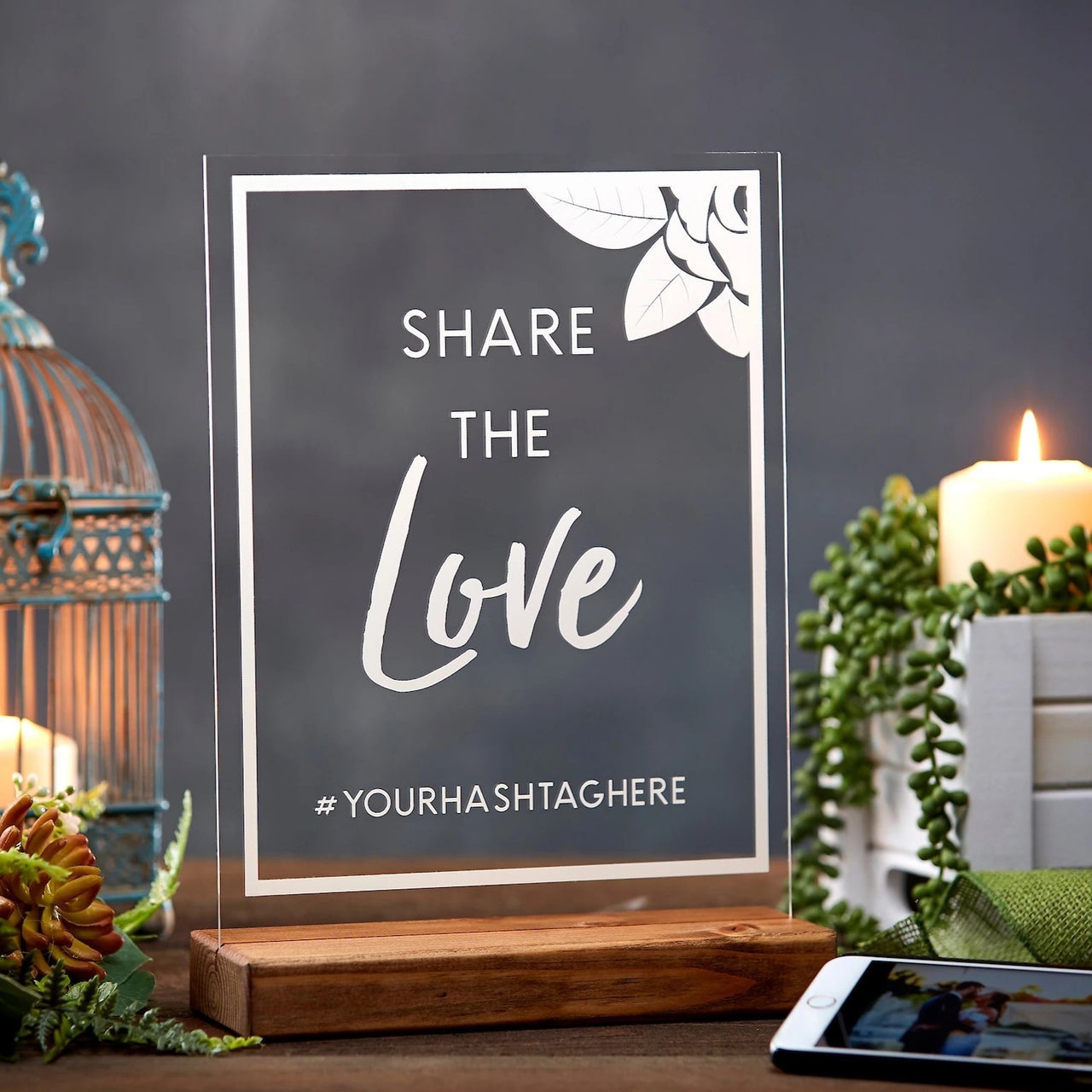 Share the Love Custom Wedding Hashtag Sign - Rich Design Co