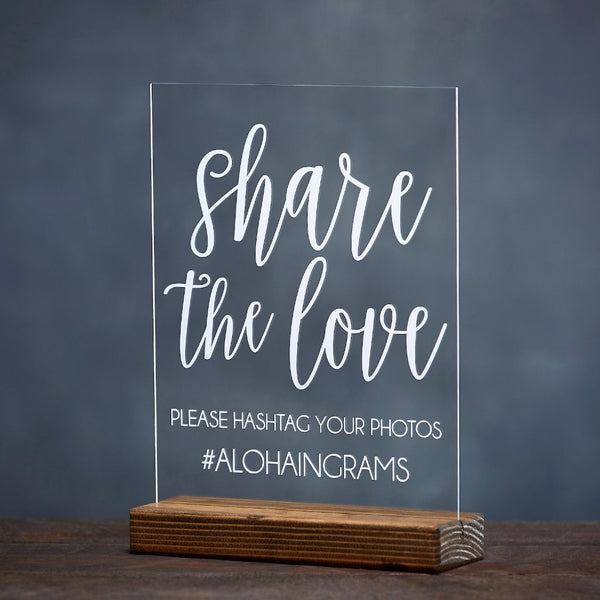 Share the Love Wedding Hashtag Sign - Rich Design Co