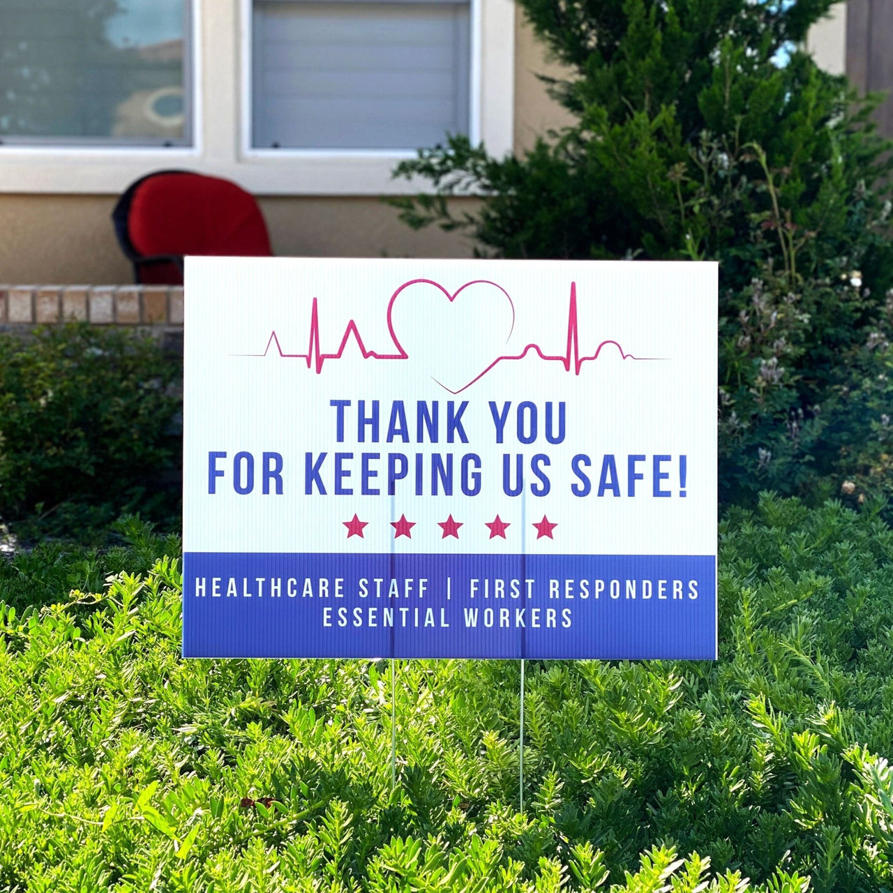 Thank You Essential Workers Quarantine Yard Sign - Rich Design Co