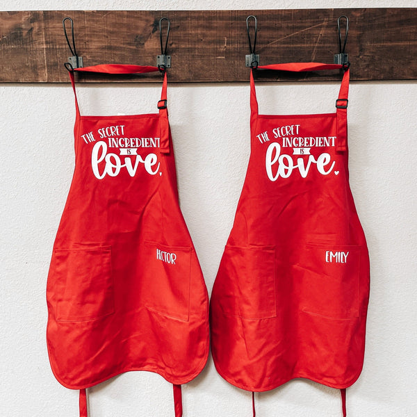 The Secret Ingredient Apron Set for Couples or Best Friends - Rich Design Co