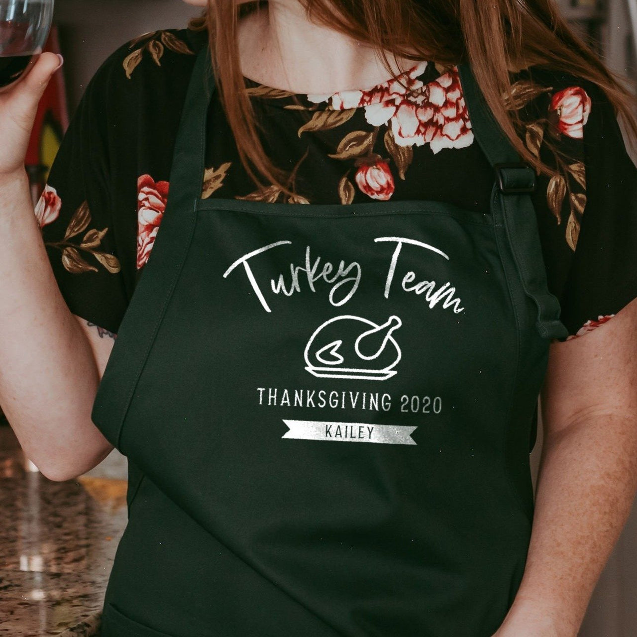 Turkey Team | Personalized Thanksgiving Apron - Rich Design Co