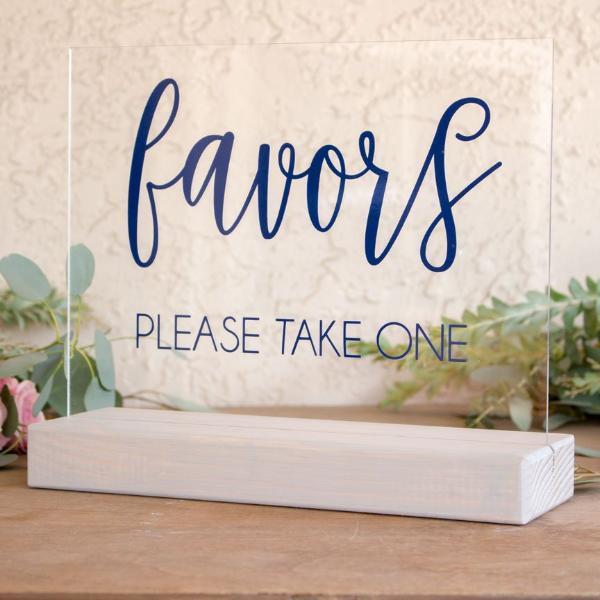 Wedding Favors Table Sign - Rich Design Co
