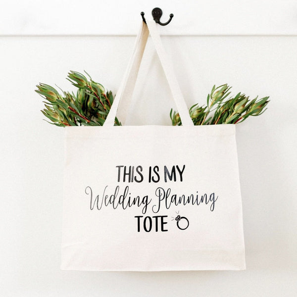 """Wedding Planning Tote"" Canvas Tote Bag - Rich Design Co"