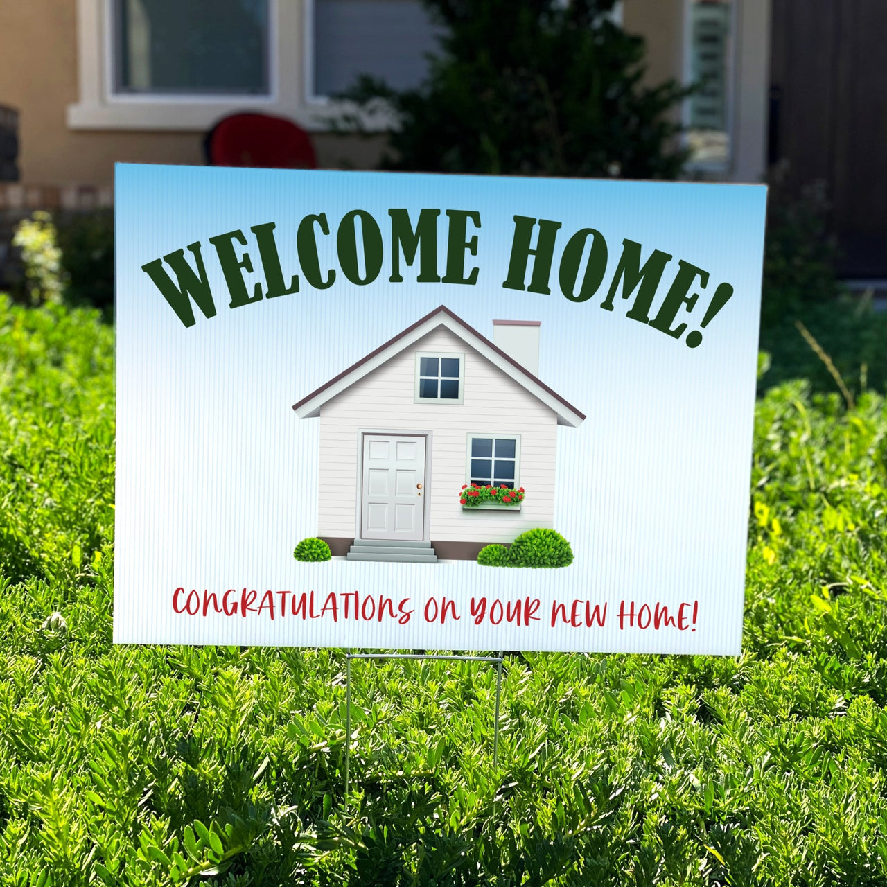 Welcome Home Congratulations On Your New Home Yard Sign - Rich Design Co