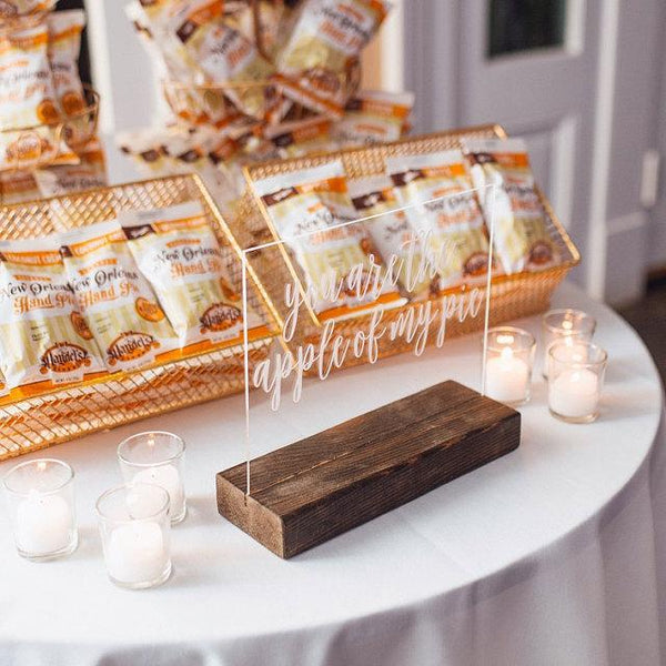 You Are the Apple of My Pie Dessert Table Sign - Rich Design Co