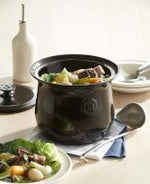 Load image into Gallery viewer, Emile Henry France La Marmite Stockpot Beanpot - Black (Fusain)