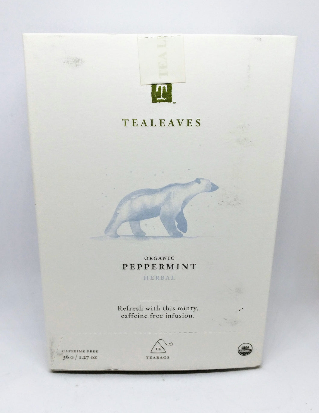 Tealeaves Tea - Organic Peppermint Herbal Tea 36g