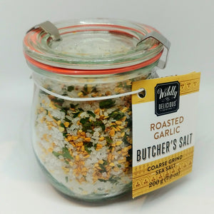 Wildly Delicious Butcher's Salt - Roasted Garlic 200g
