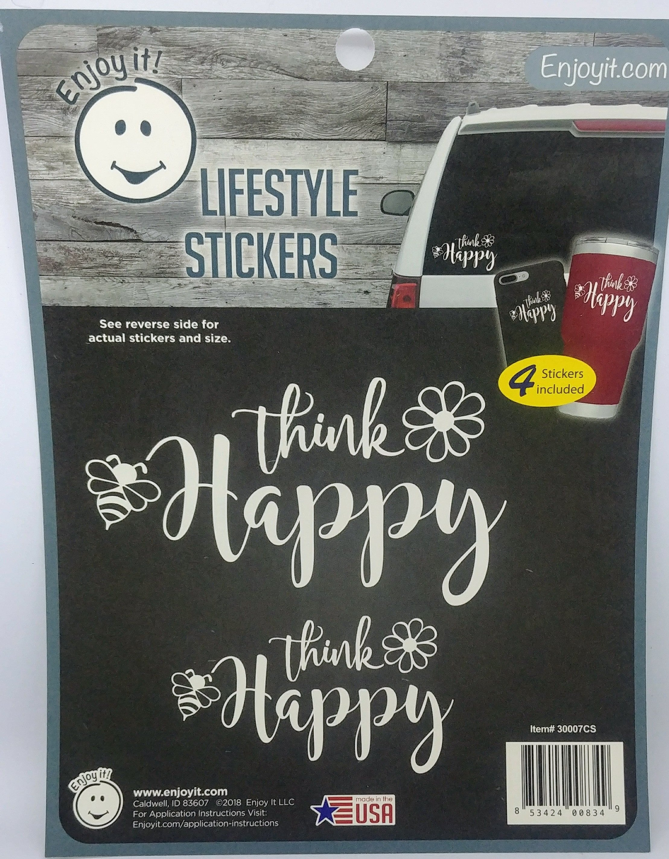 Enjoyit Car Stickers - Think Happy