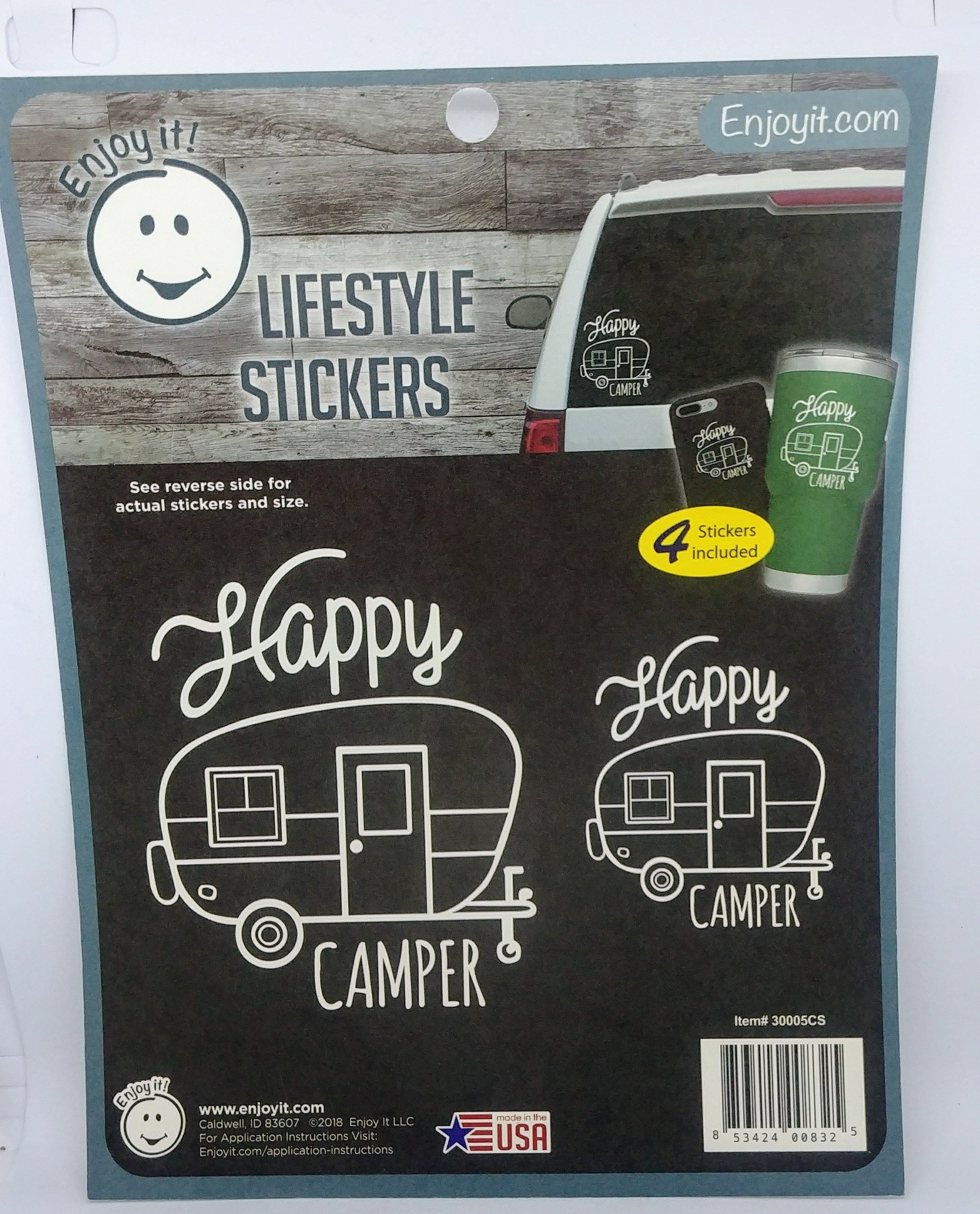 Enjoyit Car Stickers - Happy Camper