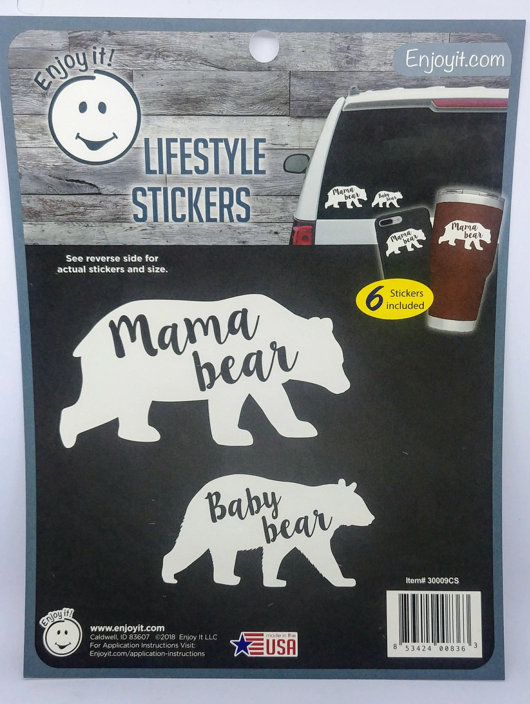 Enjoyit Car Stickers - Mama Bear