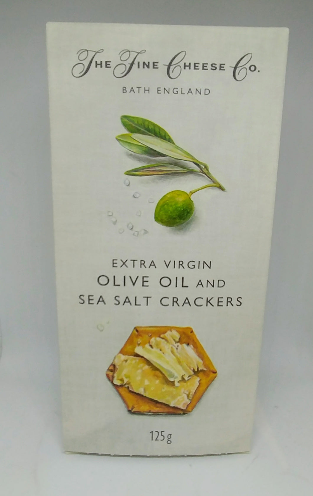 The Fine Cheese Co. Crackers - Sea Salt and Extra Virgin Olive Oil 125g