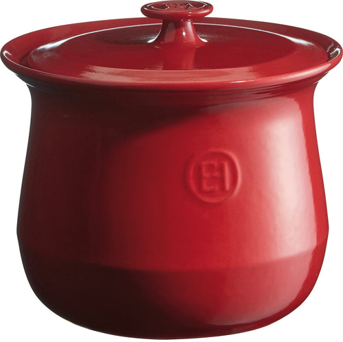 Emile Henry France La Marmite Stockpot Beanpot - Red (Grand Cru)