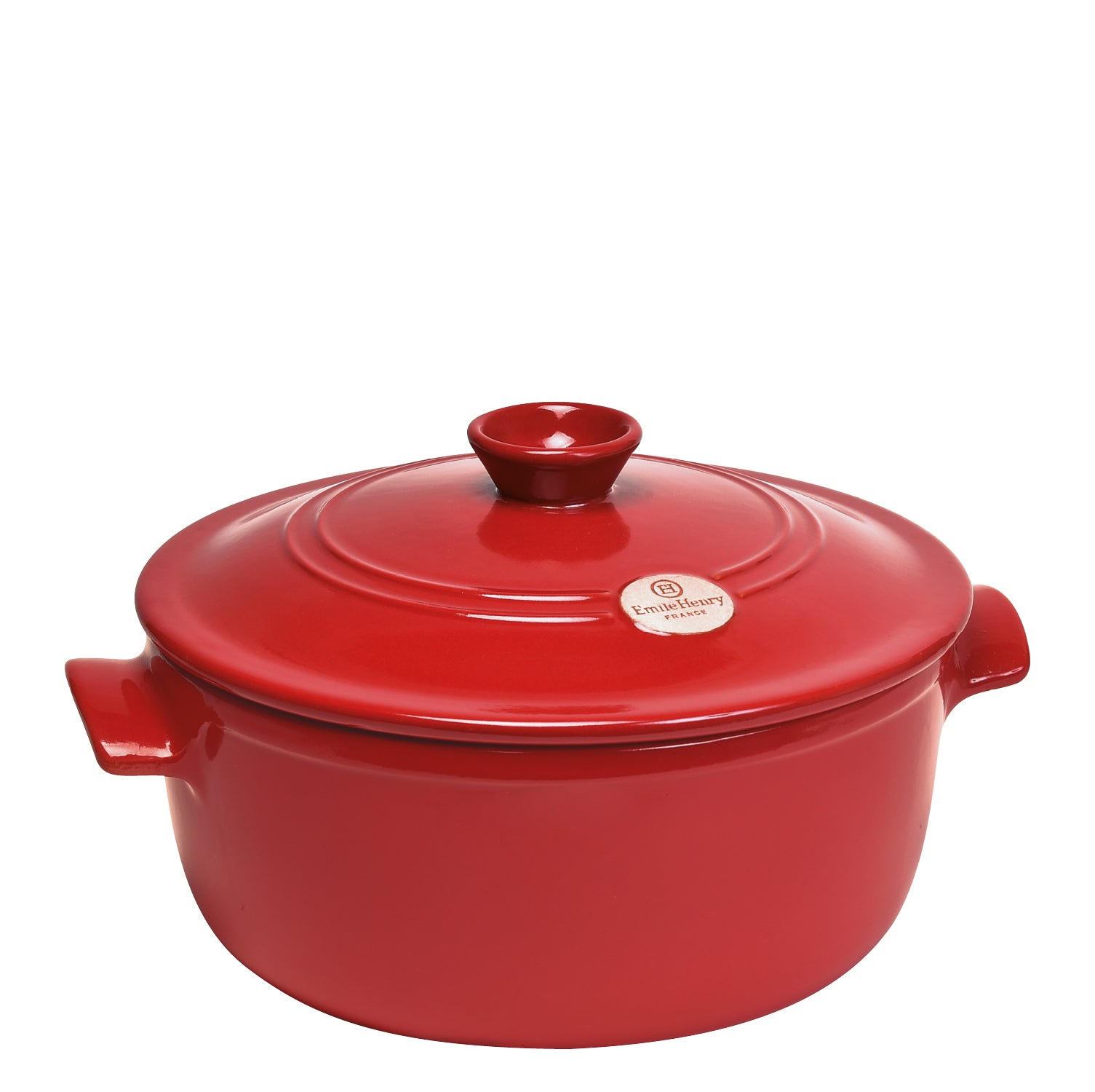 Emile Henry France Cocotte Stockpot 26cm - Red (Grand Cru)