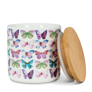 Abbott Butterfly Canister with Lid