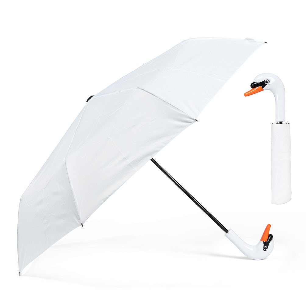 Abbott Folding Umbrella - Swan