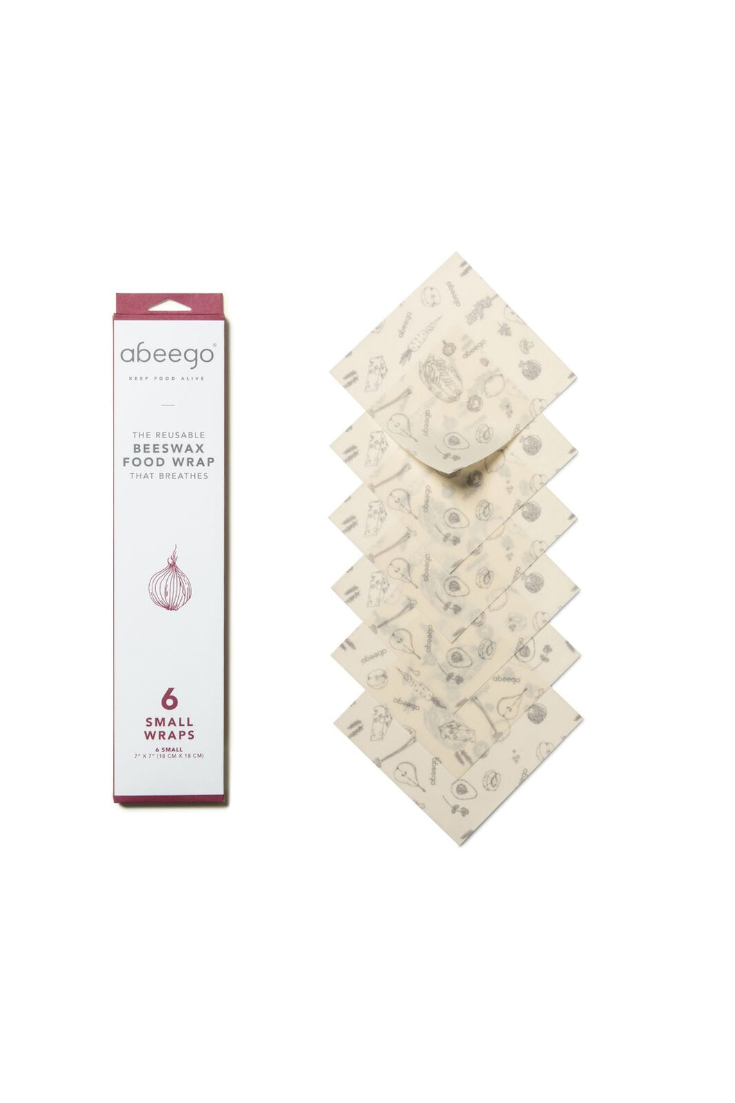 Abeego Beeswax Food Wrap - 6 Small