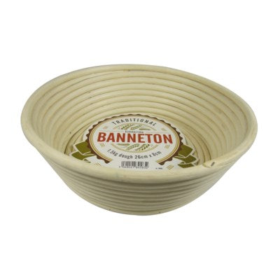 "Banneton Proofing Bread Making Basket 10"" Angled"