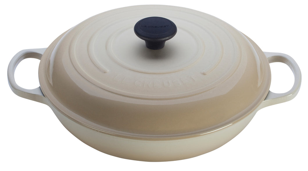 Le Creuset Cast Iron Braiser 3.5L Meringue