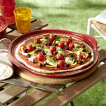 Load image into Gallery viewer, Emile Henry Deep Pizza Stone 14""