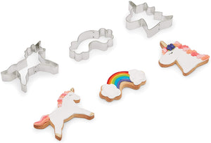 FoxRun Unicorn Cookie Cutter Set