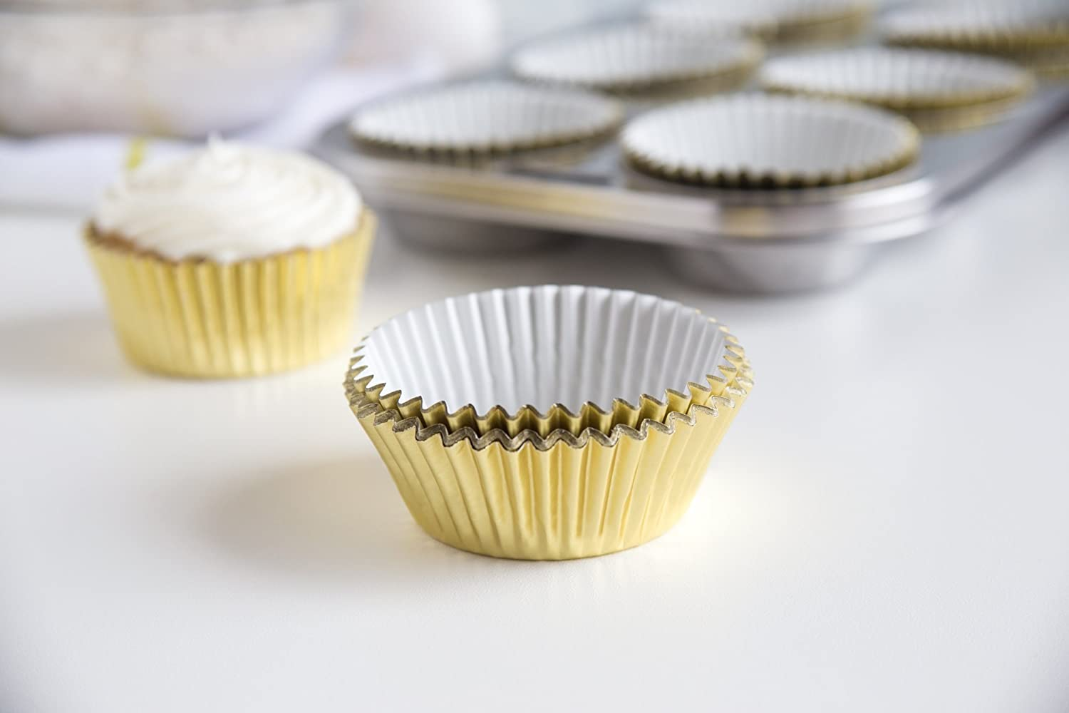 Foxrun Baking Cups Gold Foil