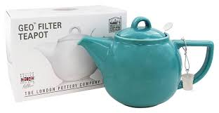 GEO Teapot 4-cup with Tea Infuser Caribbean