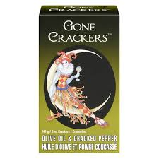 Gone Crackers Olive Oil and Cracked Pepper 142g