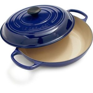 Le Creuset Cast Iron Braiser 3.5L Mars Blue