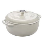Load image into Gallery viewer, Lodge Enamel Dutch Oven 6qt Oyster