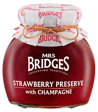 Mrs. Bridges Strawberry Preserve with Champagne 250ml