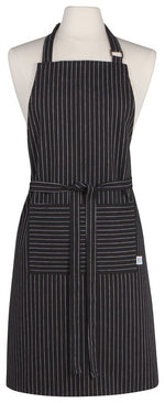 Load image into Gallery viewer, NOW Designs Pinstripe Apron - Black