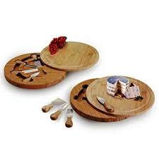 Natural Living Bamboo Swivel Cheeseboard and Knife Set