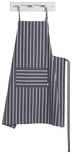 Load image into Gallery viewer, NOW Designs Mighty Butcher Stripe Apron - Navy