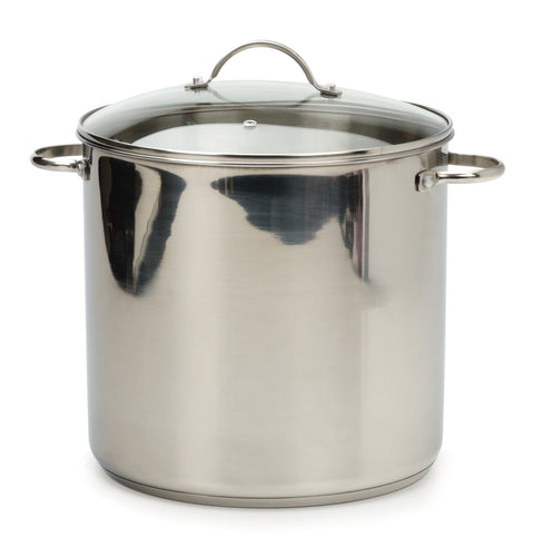 RSVP Stainless Steel Stock Pot 12qt