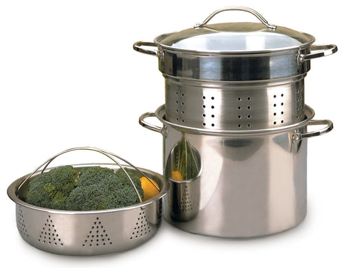 RSVP Stainless Steel Multi-Cooker Pot 8qt