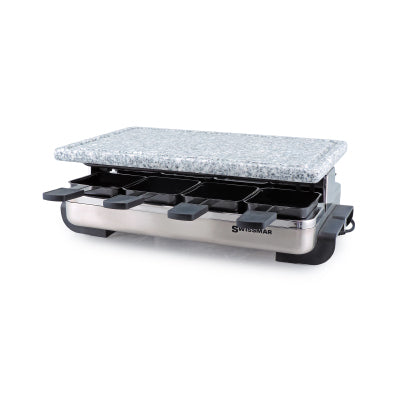 Swissmar 8-Person Stelvio Raclette Party Grill with Granite Stone Grill Top