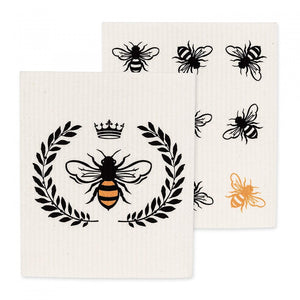 The Amazing Swedish Dishcloth - Queen Bee Pack of 2
