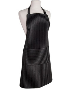 NOW Designs Pinstripe Apron - Black