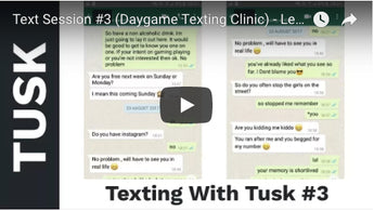 Text Session #3 (Daygame Texting Clinic) - Lengthy Exchange To Arrange First Date