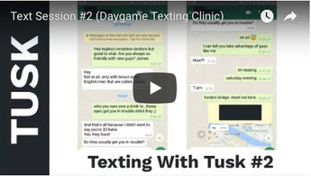 Text Session #2 (Daygame Texting Clinic)